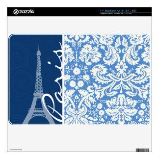 Blue Damask; Paris MacBook Air Decals