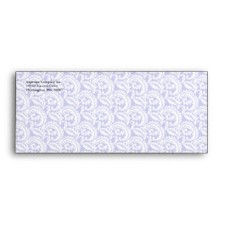 Blue Damask Pattern Business #9 Envelopes