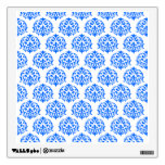 Blue Damask Pattern Room Decal