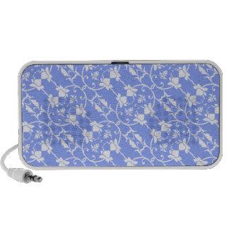 Blue Damask Pattern Speaker