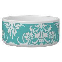 Blue damask pattern vintage girly chic chandelier bowl