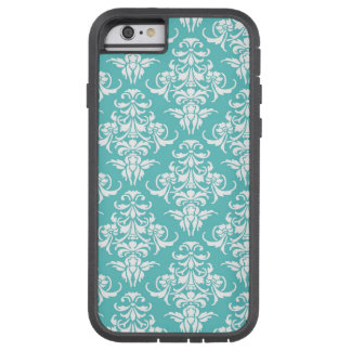 Blue damask pattern vintage girly chic chandelier tough xtreme iPhone 6 case