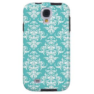 Blue damask pattern vintage girly chic chandelier galaxy s4 case