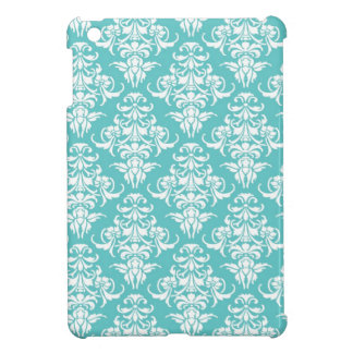 Blue damask pattern vintage girly chic chandelier case for the iPad mini