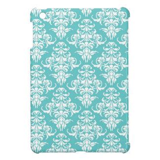 Blue damask pattern vintage girly chic chandelier iPad mini case