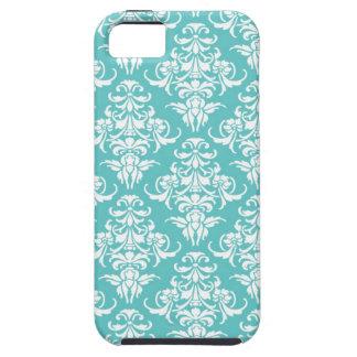 Blue damask pattern vintage girly chic chandelier iPhone SE/5/5s case