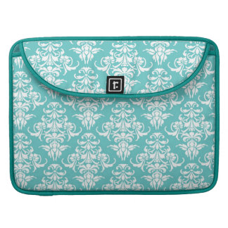 Blue damask pattern vintage girly chic chandelier MacBook pro sleeve