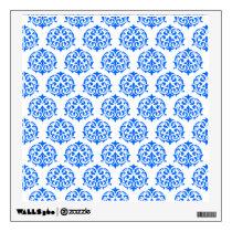 Blue Damask Pattern Wall Sticker