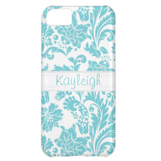 Blue Damask Personalized Case For iPhone 5C