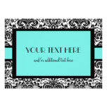 Blue Damask Personalized Invitations