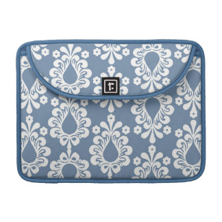 Blue Damask Rickshaw Sleeve for MacBook Pro