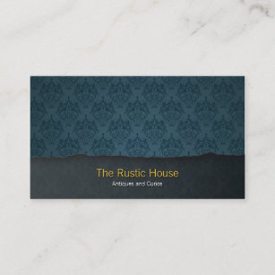 Tearaway business cards zazzle blue damask tearaway retail business card colourmoves