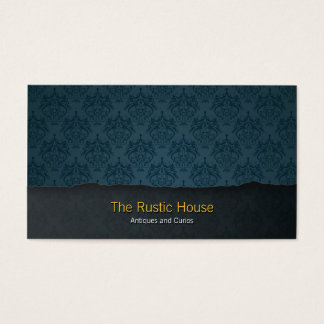 Blue Damask Tearaway Retail Business Card