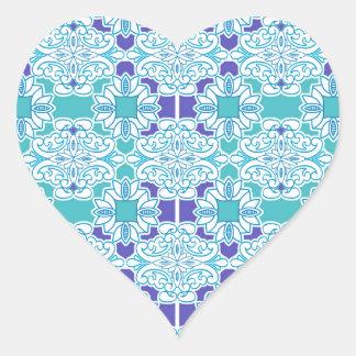 Blue Damask Tile Sticker