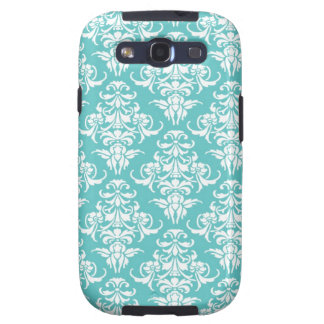 Blue damask vintage wallpaper pattern Galaxy case Galaxy S3 Cover