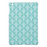 Blue damask vintage wallpaper pattern iPad mini case