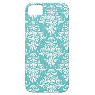 Blue damask vintage wallpaper pattern iPhone SE/5/5s case