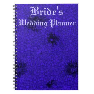 Blue Damask Wedding Planner Notebook