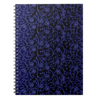 Blue Damask Wedding Planner Notebooks