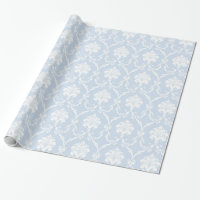 Blue Damask Wrapping Paper