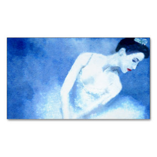 Blue Dancer Business Card Magnet