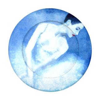 Blue Dancer Button Covers