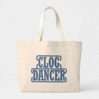 Blue Dancer Clog Dancers Swirls Clogging Jumbo Tote Bag