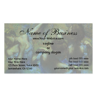 Blue Dancers by Edgar Degas Double-Sided Standard Business Cards (Pack Of 100)