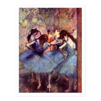 Blue Dancers by Edgar Degas Postcard