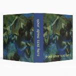 Blue Dancers by Edgar Degas, Vintage Impressionism 3 Ring Binders