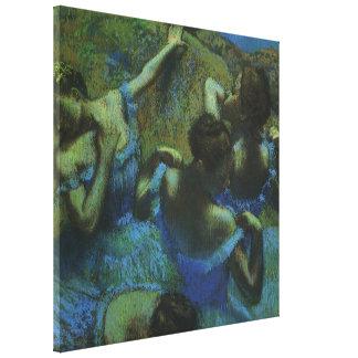 Blue Dancers by Edgar Degas, Vintage Impressionism Canvas Print