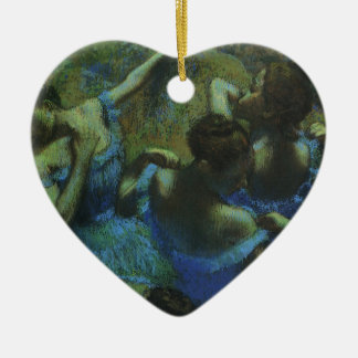 Blue Dancers by Edgar Degas, Vintage Impressionism Ceramic Ornament