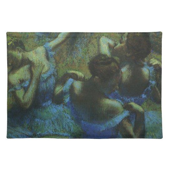 Blue Dancers by Edgar Degas, Vintage Impressionism Cloth Placemat