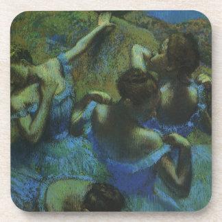 Blue Dancers by Edgar Degas, Vintage Impressionism Drink Coaster