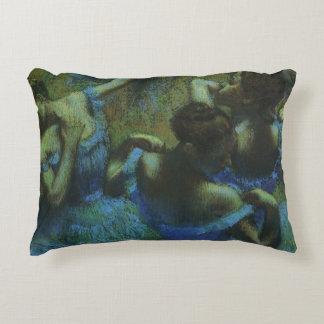 Blue Dancers by Edgar Degas, Vintage Impressionism Decorative Pillow