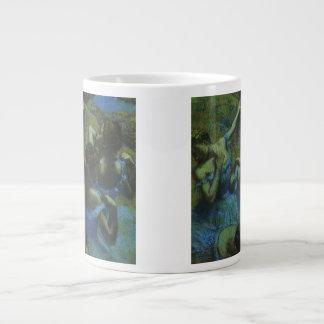 Blue Dancers by Edgar Degas, Vintage Impressionism Giant Coffee Mug