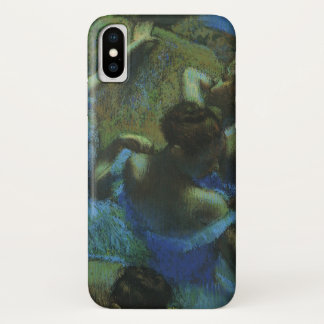 Blue Dancers by Edgar Degas, Vintage Impressionism iPhone X Case