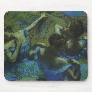 Blue Dancers by Edgar Degas, Vintage Impressionism Mouse Pad