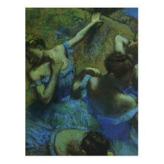 Blue Dancers by Edgar Degas, Vintage Impressionism Postcard