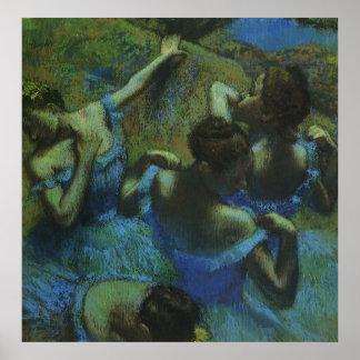 Blue Dancers by Edgar Degas Vintage Impressionism Posters