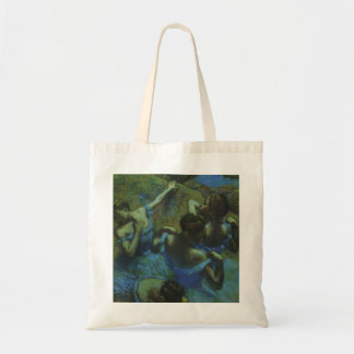 Blue Dancers by Edgar Degas, Vintage Impressionism Tote Bag