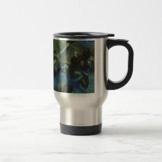 Blue Dancers by Edgar Degas, Vintage Impressionism Travel Mug