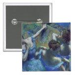 Blue Dancers, c.1899 2 Inch Square Button