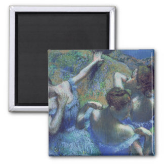 Blue Dancers, c.1899 2 Inch Square Magnet