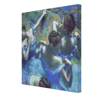 Blue Dancers c 1899 Canvas Print