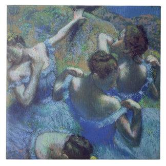 Blue Dancers, c.1899 (pastel) Ceramic Tile