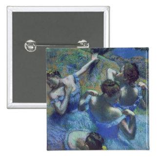 Blue Dancers, c.1899 (pastel) Pinback Button