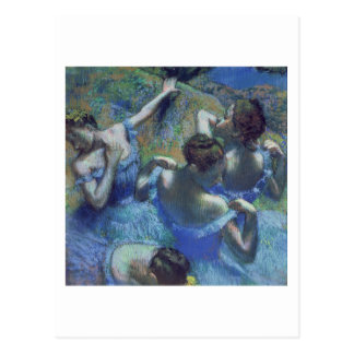 Blue Dancers, c.1899 (pastel) Postcard