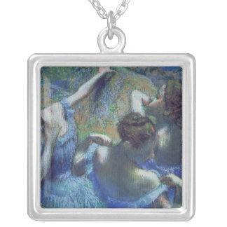 Blue Dancers, c.1899 Square Pendant Necklace