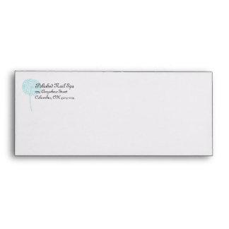 Blue Dandelion Flower Customizable Envelopes